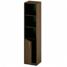 Шкаф пенал поллуоткрытый, 400 мм, дуб