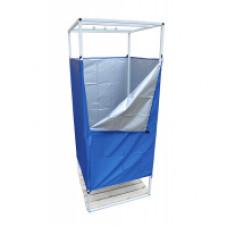 Кабинка-раздевалка 80*80 см., для душа на каркасе из трубы и ткани