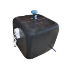 Бак для душа с водонагревателем 100 л. квадратный (цвет бака черный )