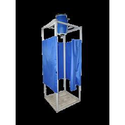 Душ дачный 127 л с электроводонагревателем «Бодрость», синий бак,