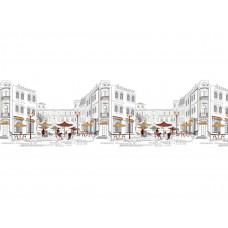 Фартук для кухни «Уличное кафе», 2000 мм