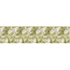 Фартук для кухни «Белые розы», 2000 мм