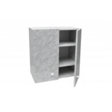 Шкаф настенный «Стандарт» с 2-мя полками  L 500 цвет белый мрамор