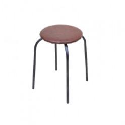 Табурет стальной Эконом (коричневый), круглый