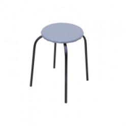 Табурет стальной Эконом (серый), круглый