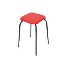 Табурет стальной Эконом (красный), квадратный