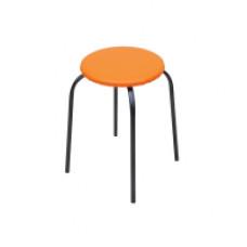 Табурет стальной Эконом (оранжевый), круглый